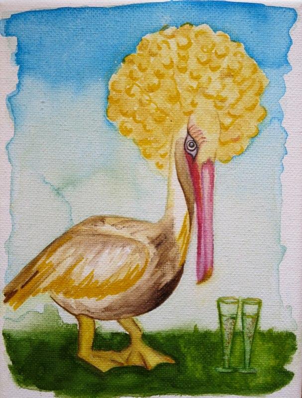 Pelikan-Frauenschwarm